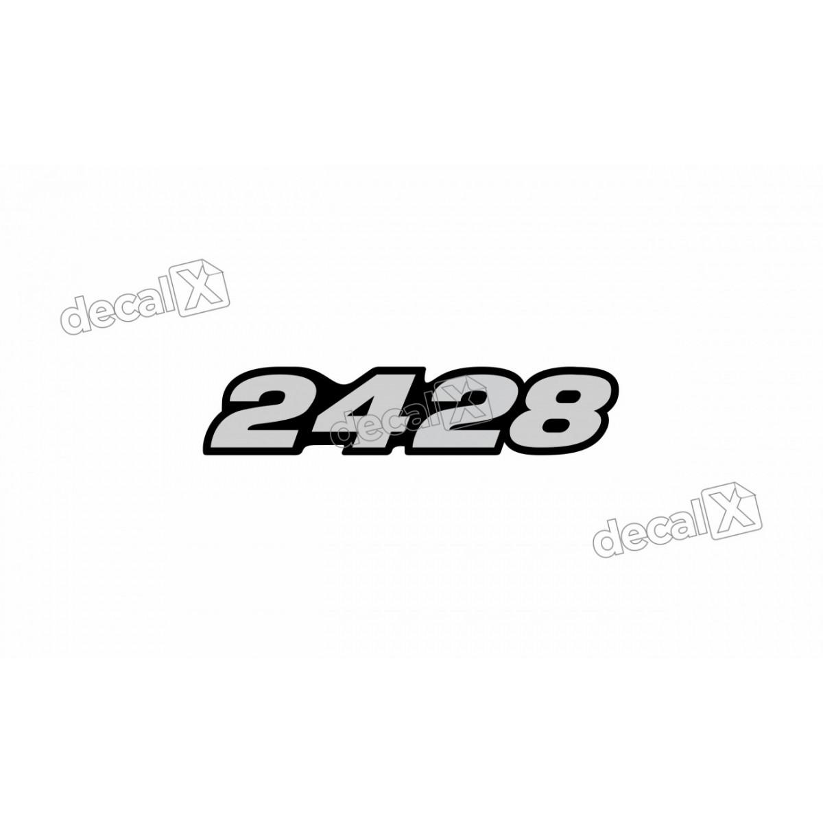 Adesivo Emblema Resinado Mercedes 2428 Cm87 Decalx