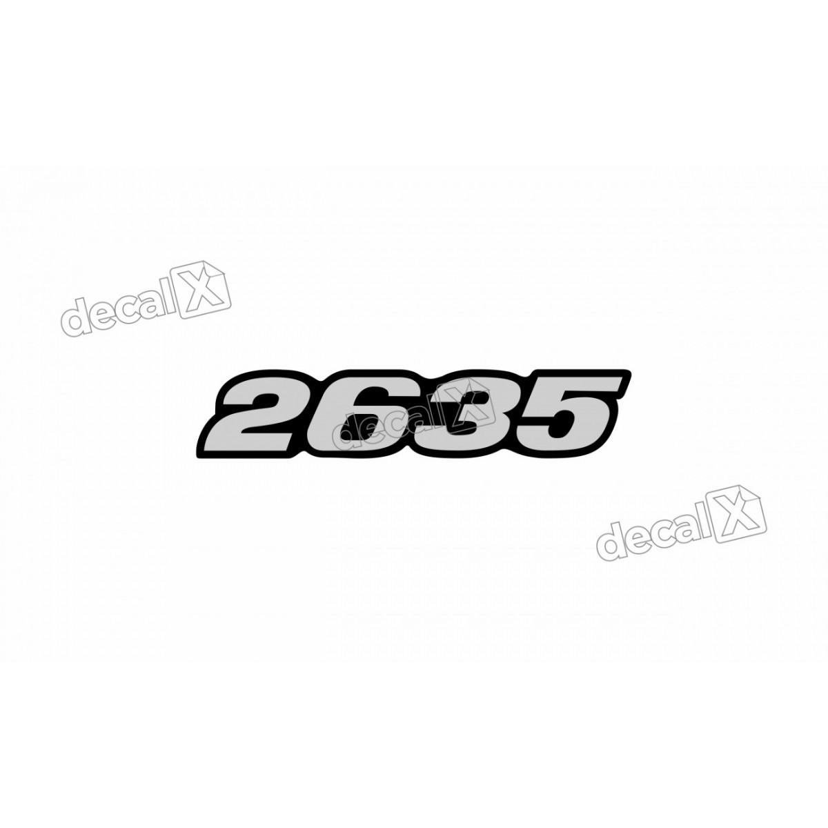 Adesivo Emblema Resinado Mercedes 2635 Cm88 Decalx
