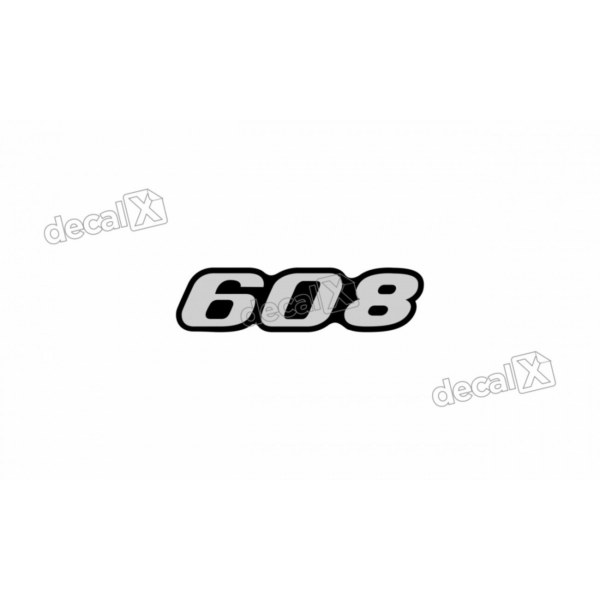 Adesivo Emblema Resinado Mercedes 608 Cm2 Decalx