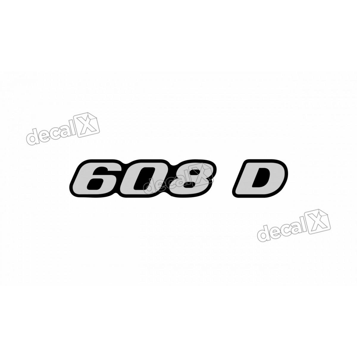Adesivo Emblema Resinado Mercedes 608 D Cm1 Decalx