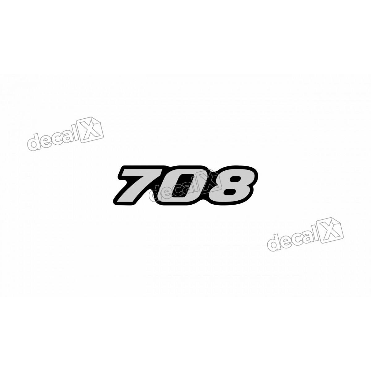 Adesivo Emblema Resinado Mercedes 708 Cm4 Decalx