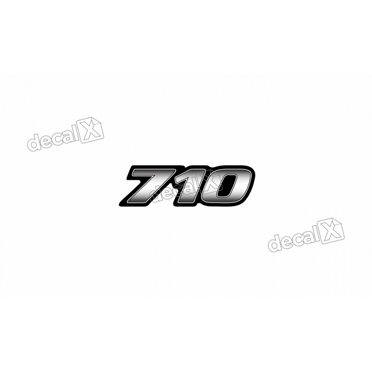 Adesivo Emblema Resinado Mercedes 710 Novo Cm6 Decalx