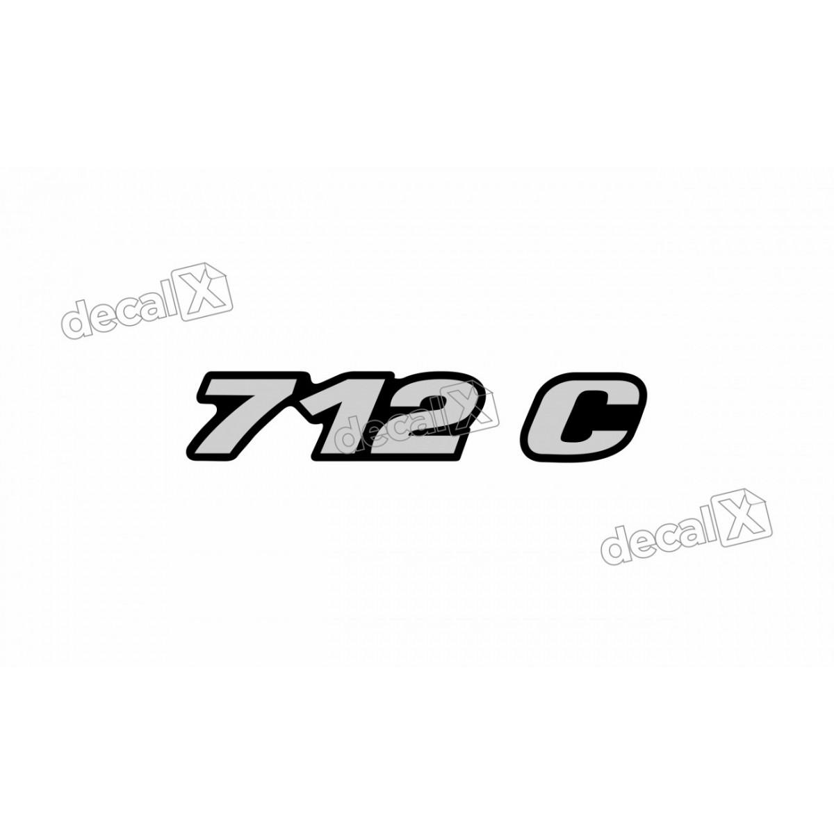 Adesivo Emblema Resinado Mercedes 712 C Cm8