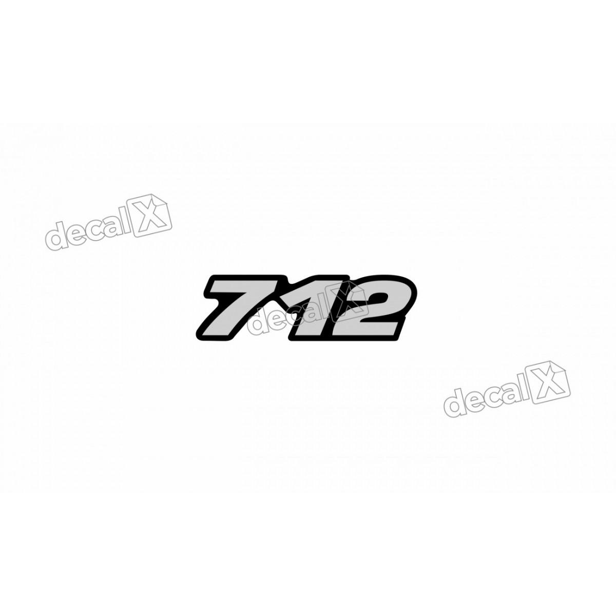 Adesivo Emblema Resinado Mercedes 712 Cm9 Decalx