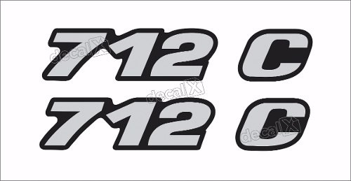 Adesivo Emblema Resinado Mercedes 712c Cm110