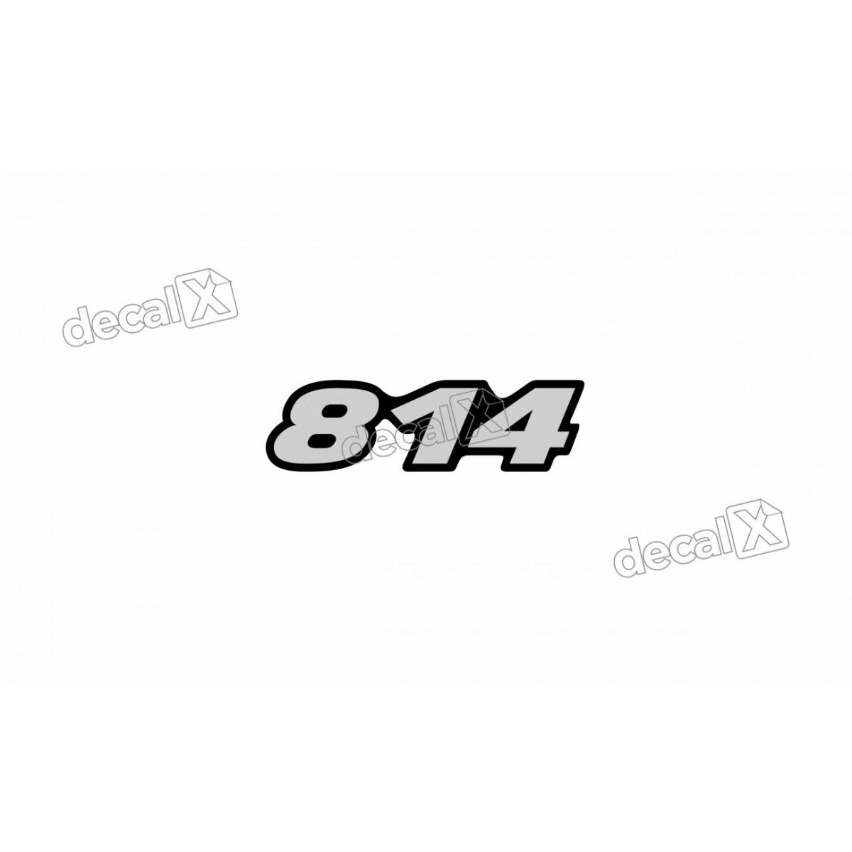 Adesivo Emblema Resinado Mercedes 814 Cm10 Decalx