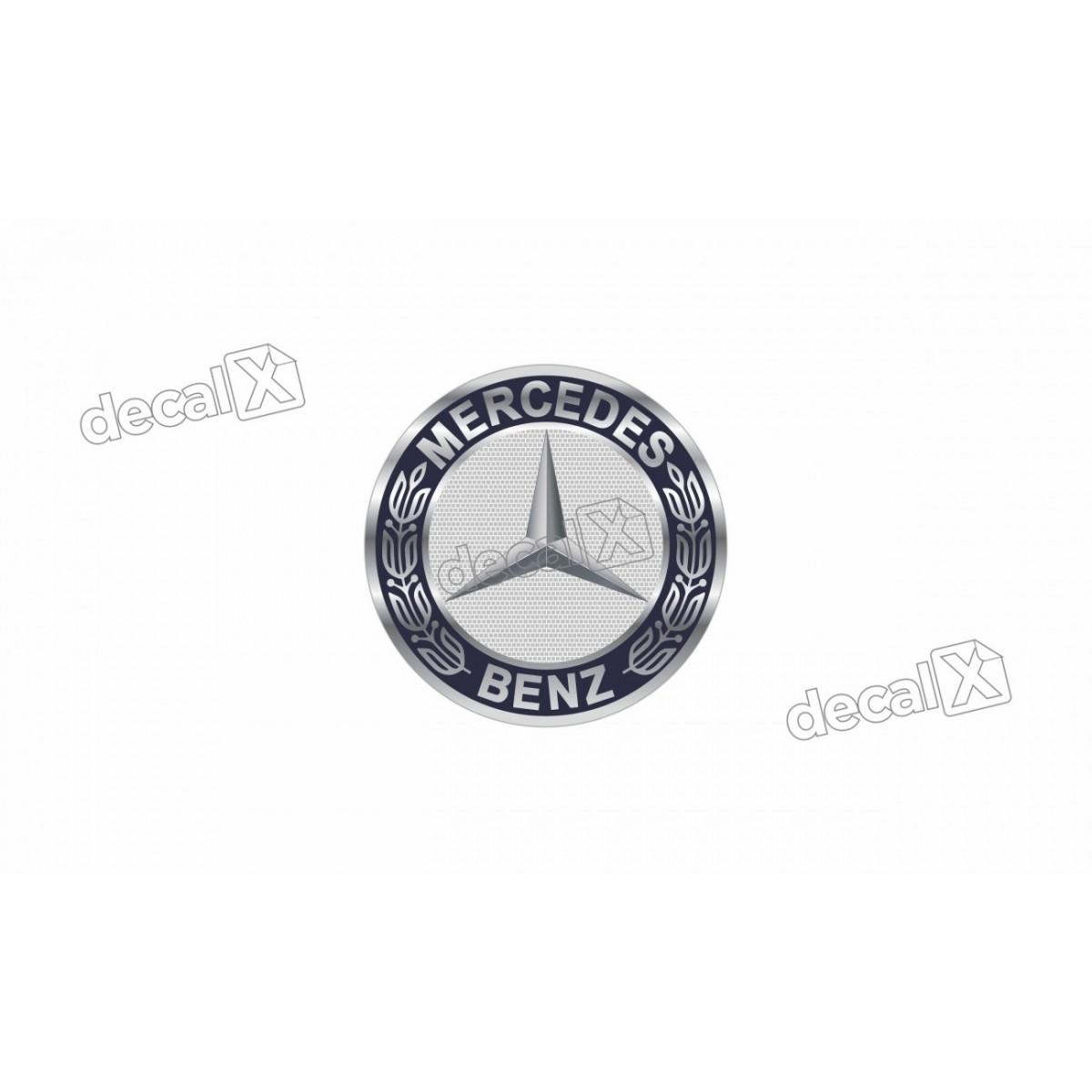 Adesivo Emblema Resinado Mercedes Benz Cm100 Decalx