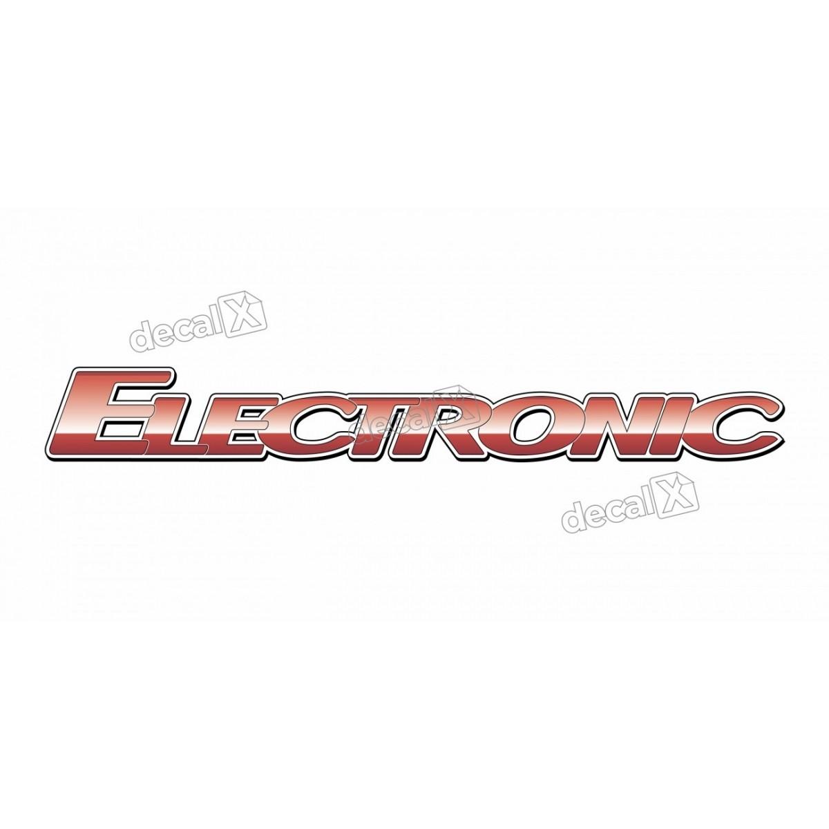 Adesivo Emblema Resinado Mercedes Electronic Cm93 Decalx