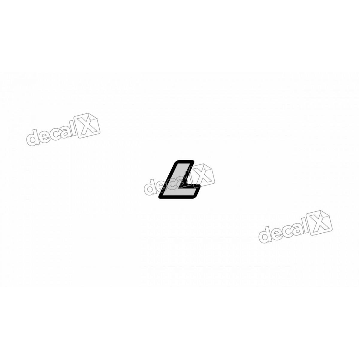 Adesivo Emblema Resinado Mercedes L Cm97 Decalx