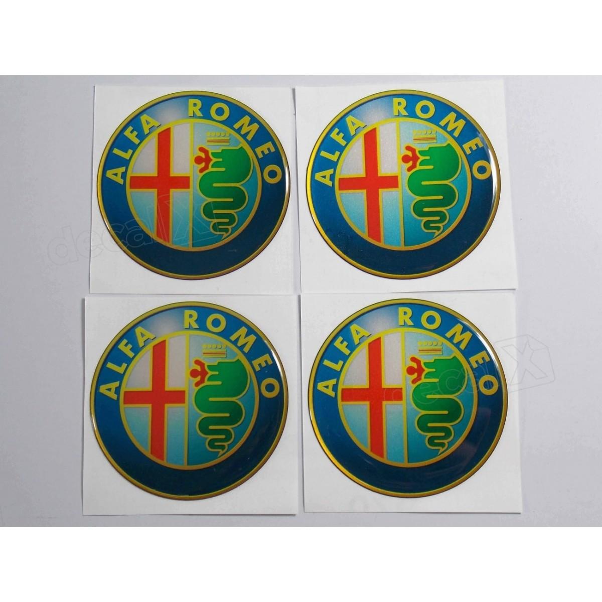 Adesivo Emblema Resinado Roda Alfa Romeo 68mm - Cl3 - Decalx