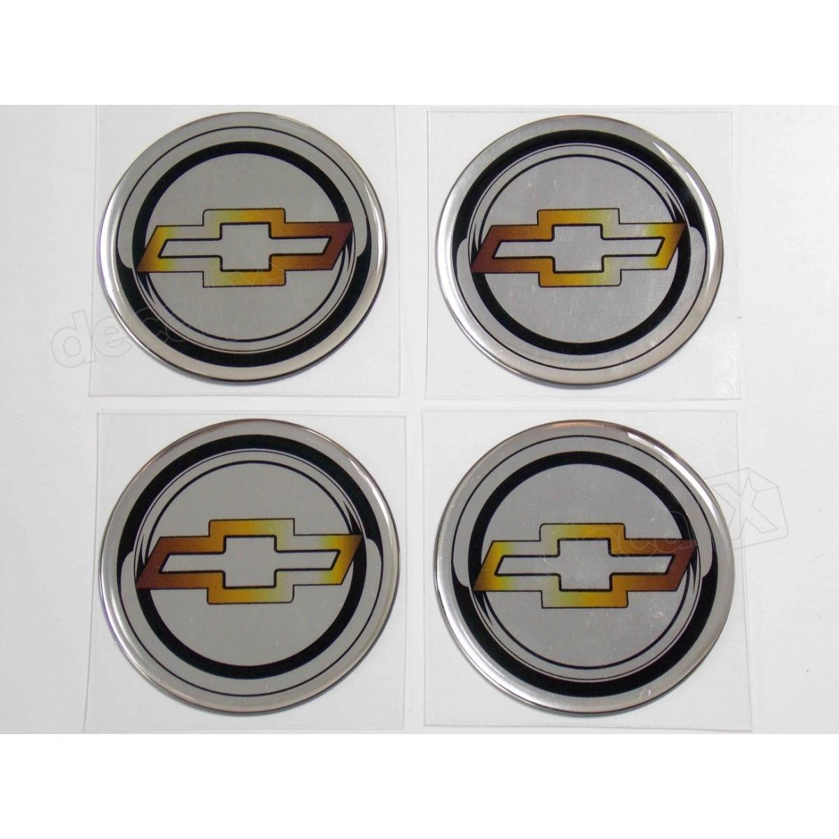 Adesivo Emblema Resinado Roda Chevrolet 48mm Cl1