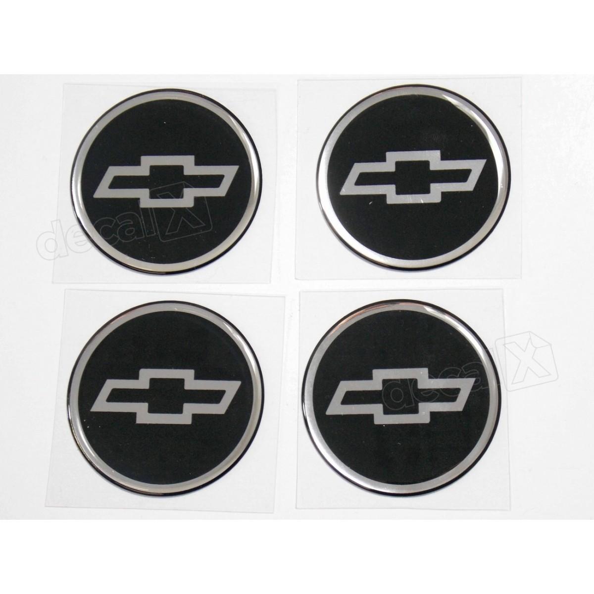 Adesivo Emblema Resinado Roda Chevrolet 51mm Cl14