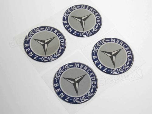 Adesivo Emblema Resinado Roda Mercedes 145mm Cl7 Decalx