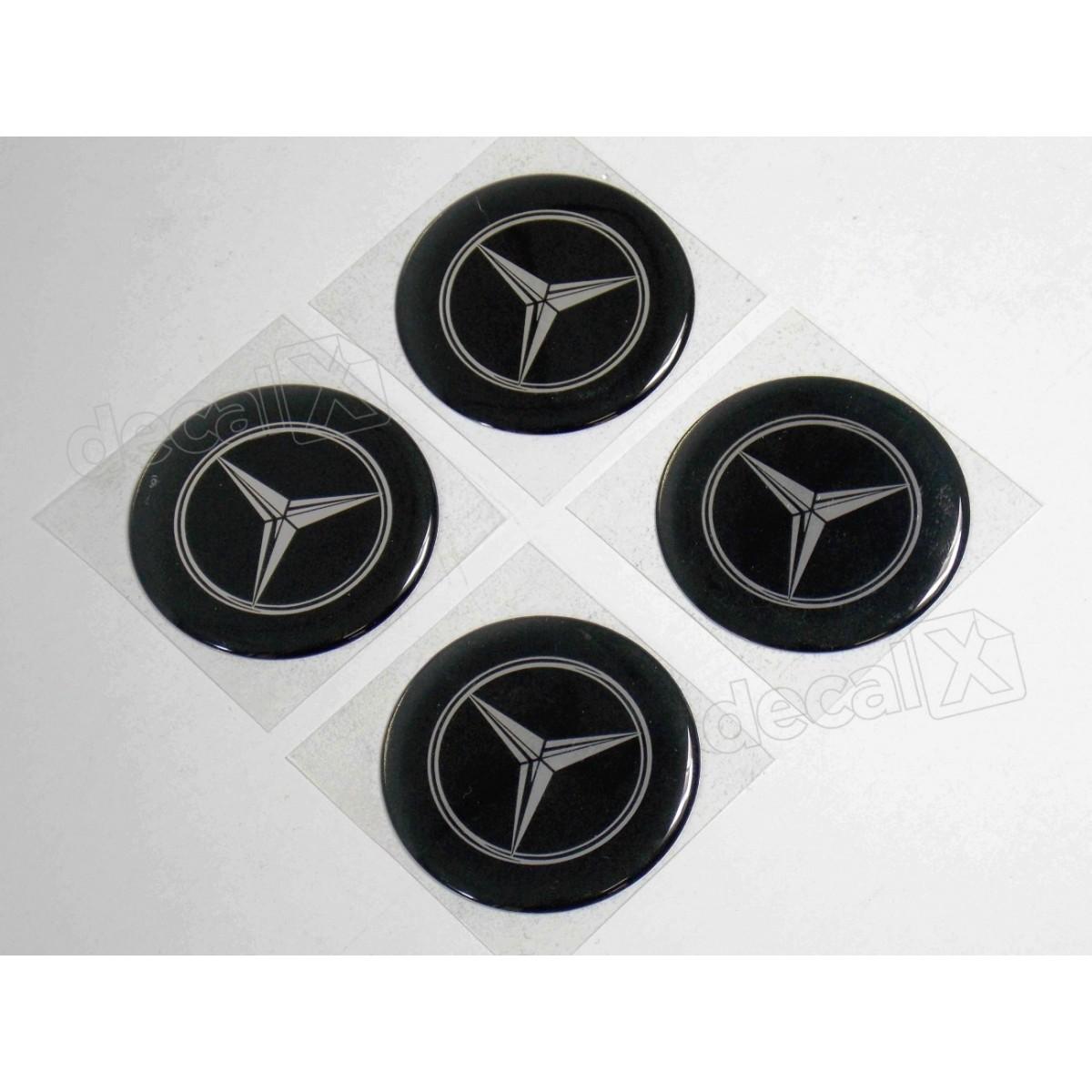 Adesivo Emblema Resinado Roda Mercedes 55mm Cl4 Decalx