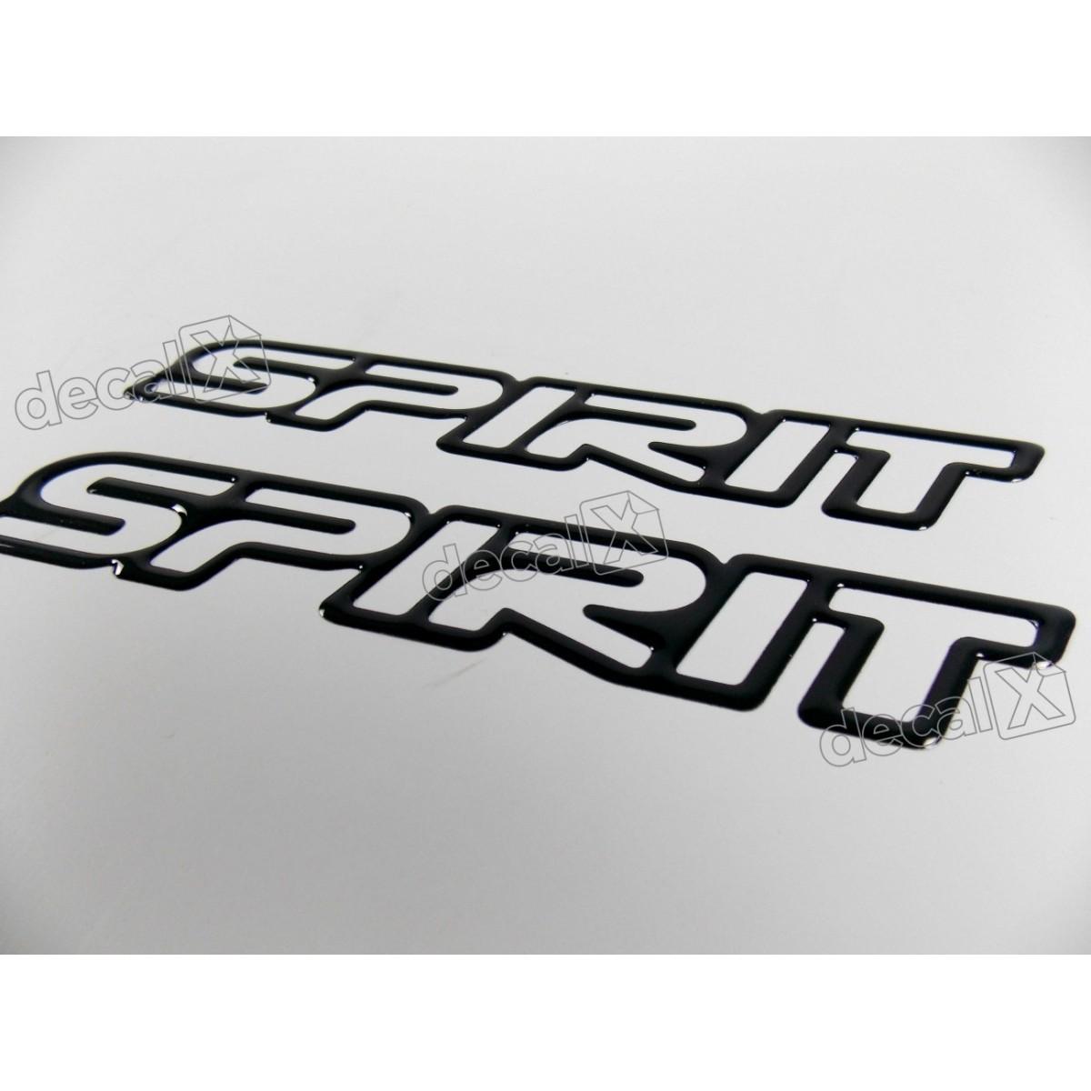 Adesivo Emblema Spirit Celta Classic Corsa Resinado Preto