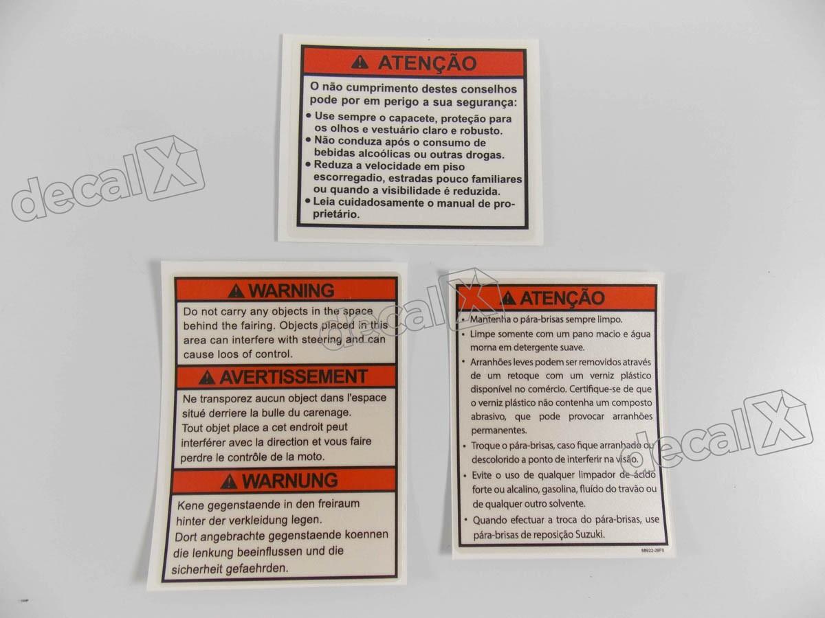 Adesivo Etiqueta Suzuki Vstrom Gsxr Gsxf Gsx Hayabusa