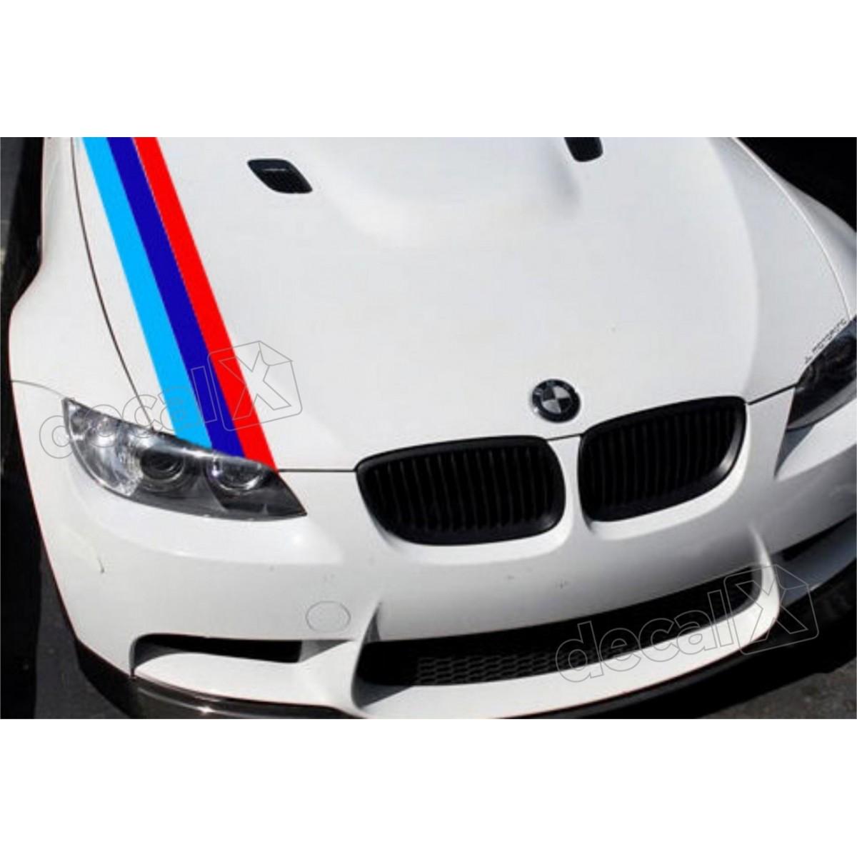 Adesivo Faixa Capo Bmw Tricolor Bw3