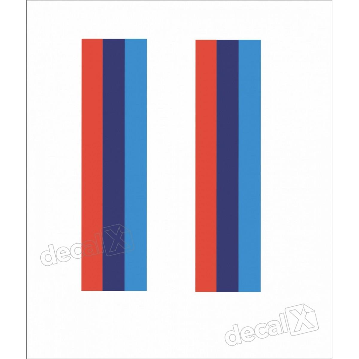 Adesivo Faixa Capo Bmw Tricolor Dupla Bw1