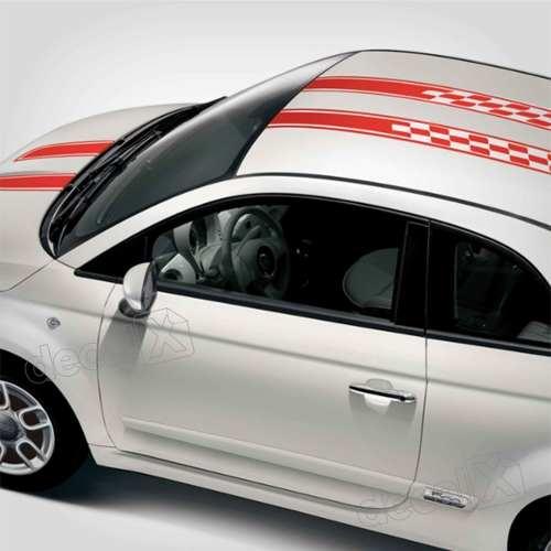 Adesivo Faixa Capo Teto Fiat 500 3m 50025