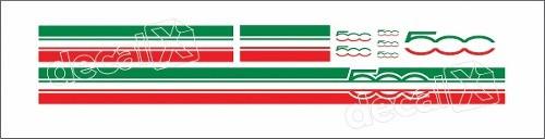 Adesivo Faixa Capo Teto Mala Fiat 500 3m 50002