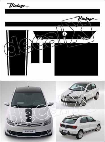 Adesivo Faixa Capo Teto Mala Volkswagen Gol Vintage Gv001
