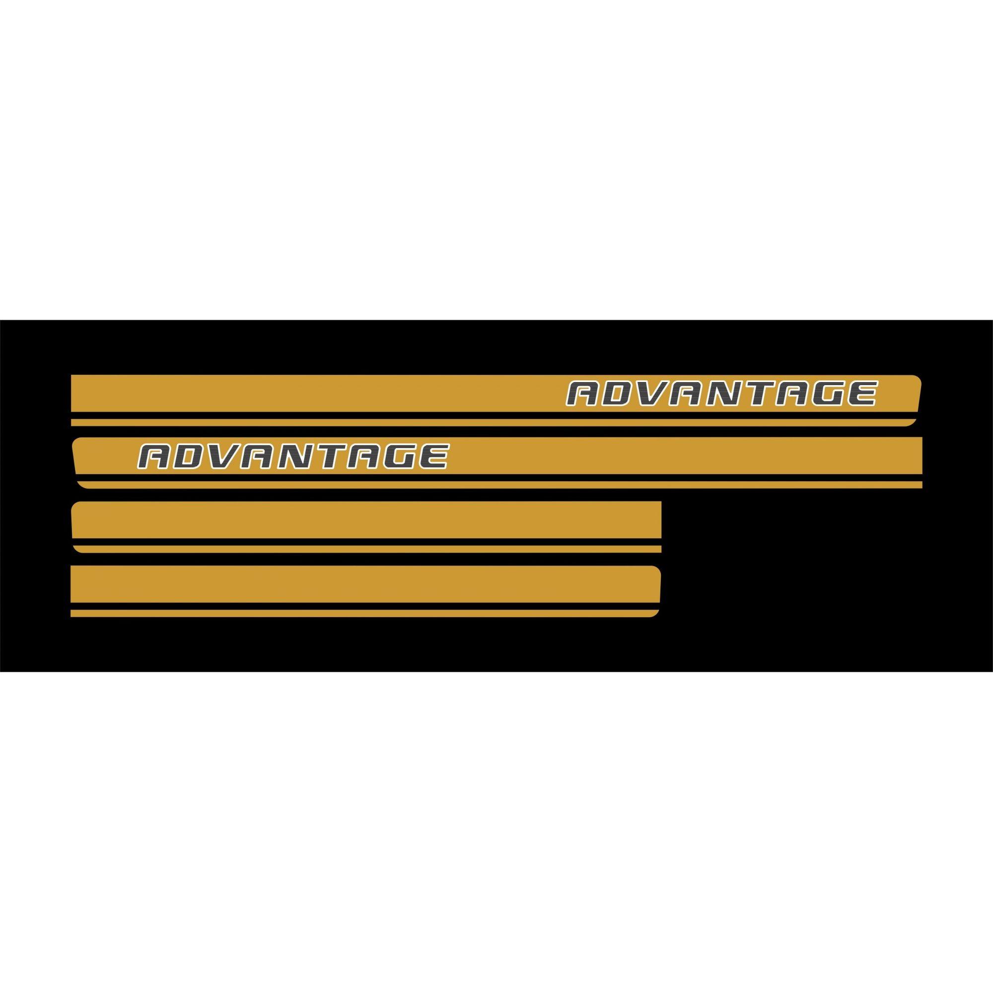 Adesivo Faixa Chevrolet S10 Advantage Dourado S10p03