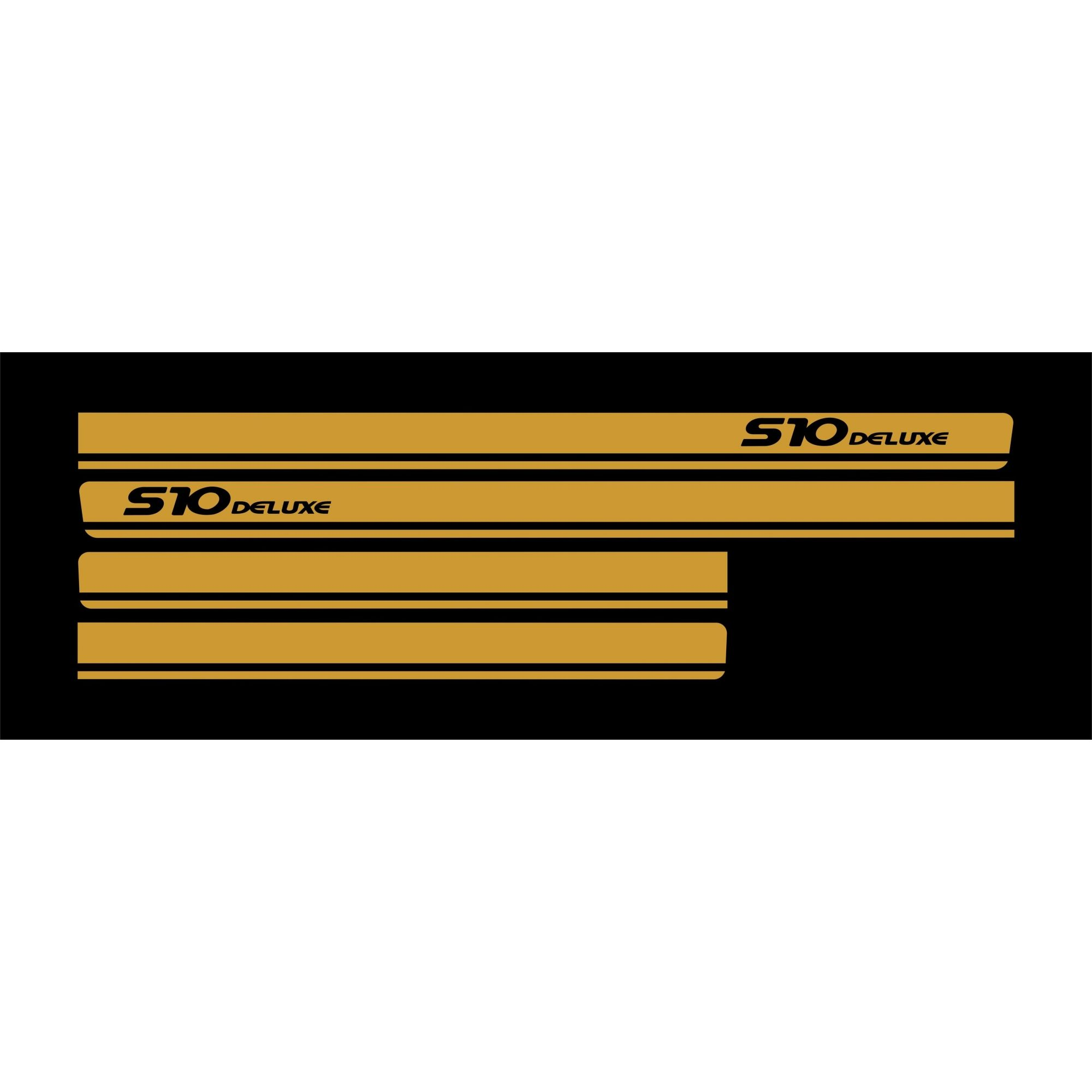 Adesivo Faixa Chevrolet S10 Deluxe Dourado S10p12