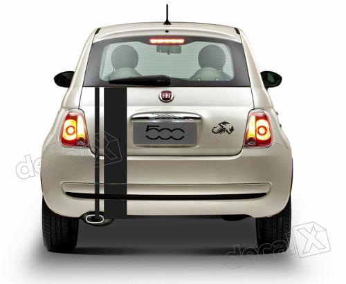Adesivo Faixa Fiat 500 Capo Teto Mala 3m 50021