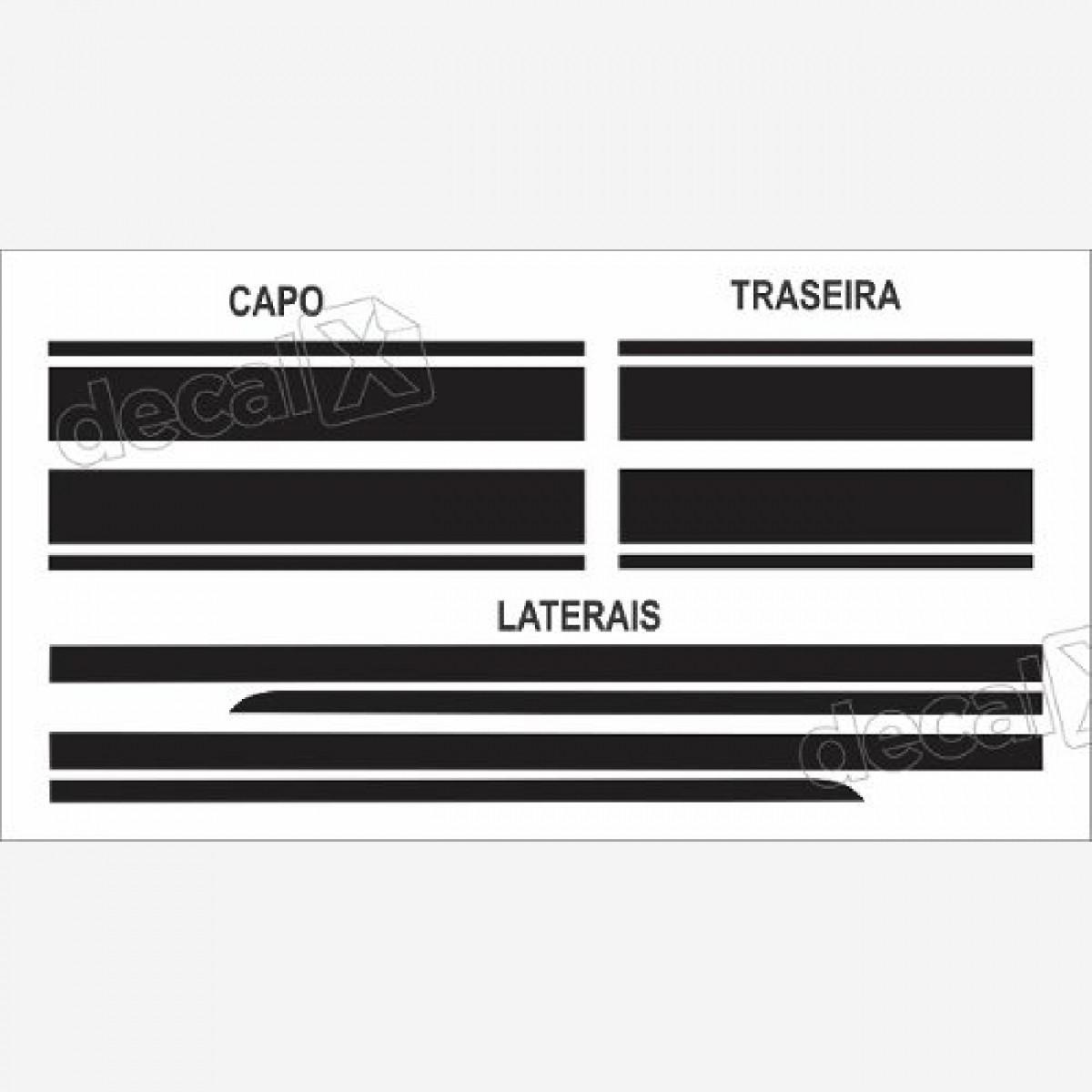 Adesivo Faixa Lateral, Capo E Traseira Mini Cooper 3m Fa8