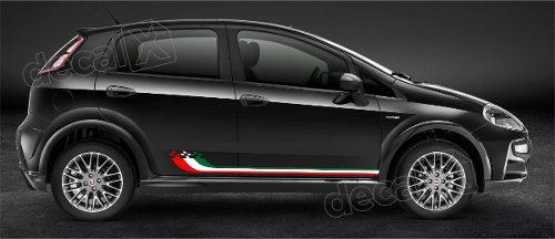 Adesivo Faixa Lateral Capo Mala Fiat Punto Italia Pntof24