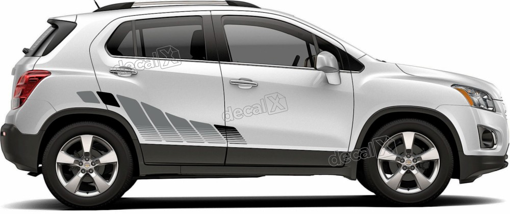 Adesivo Faixa Lateral Chevrolet Tracker Personalizado Tkr008
