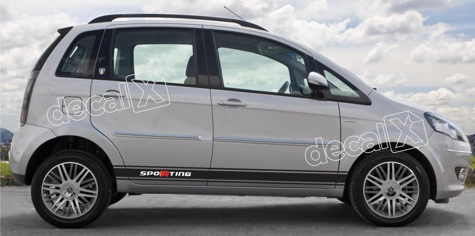 Adesivo Faixa Lateral Fiat Idea Idea03