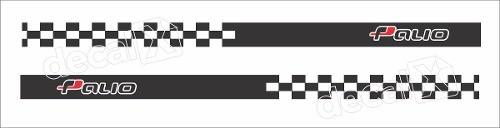 Adesivo Faixa Lateral Fiat Palio Racing Plob02