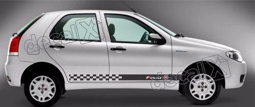 Adesivo Faixa Lateral Fiat Palio Racing Plob04