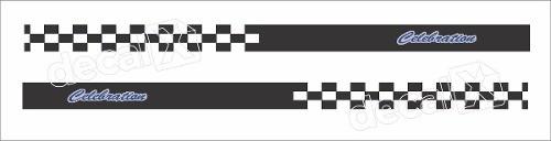 Adesivo Faixa Lateral Fiat Palio Racing Plob06