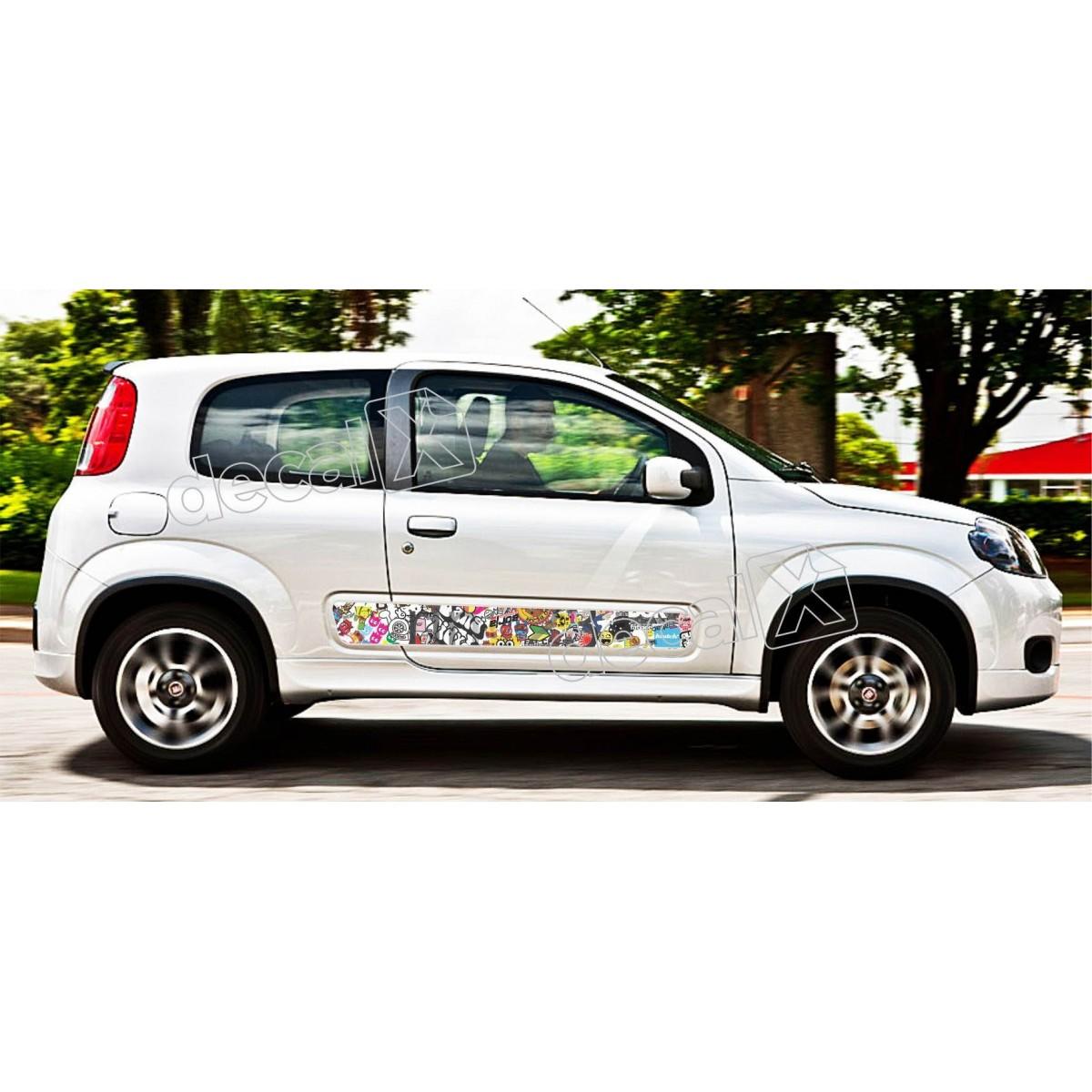 Adesivo Faixa Lateral Fiat Uno Personalizado Unoa1