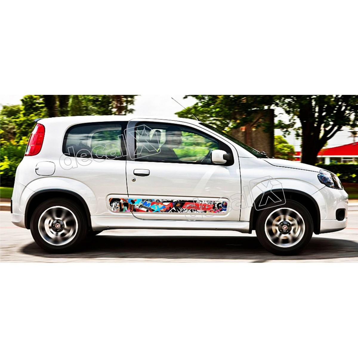 Adesivo Faixa Lateral Fiat Uno Personalizado Unoa3