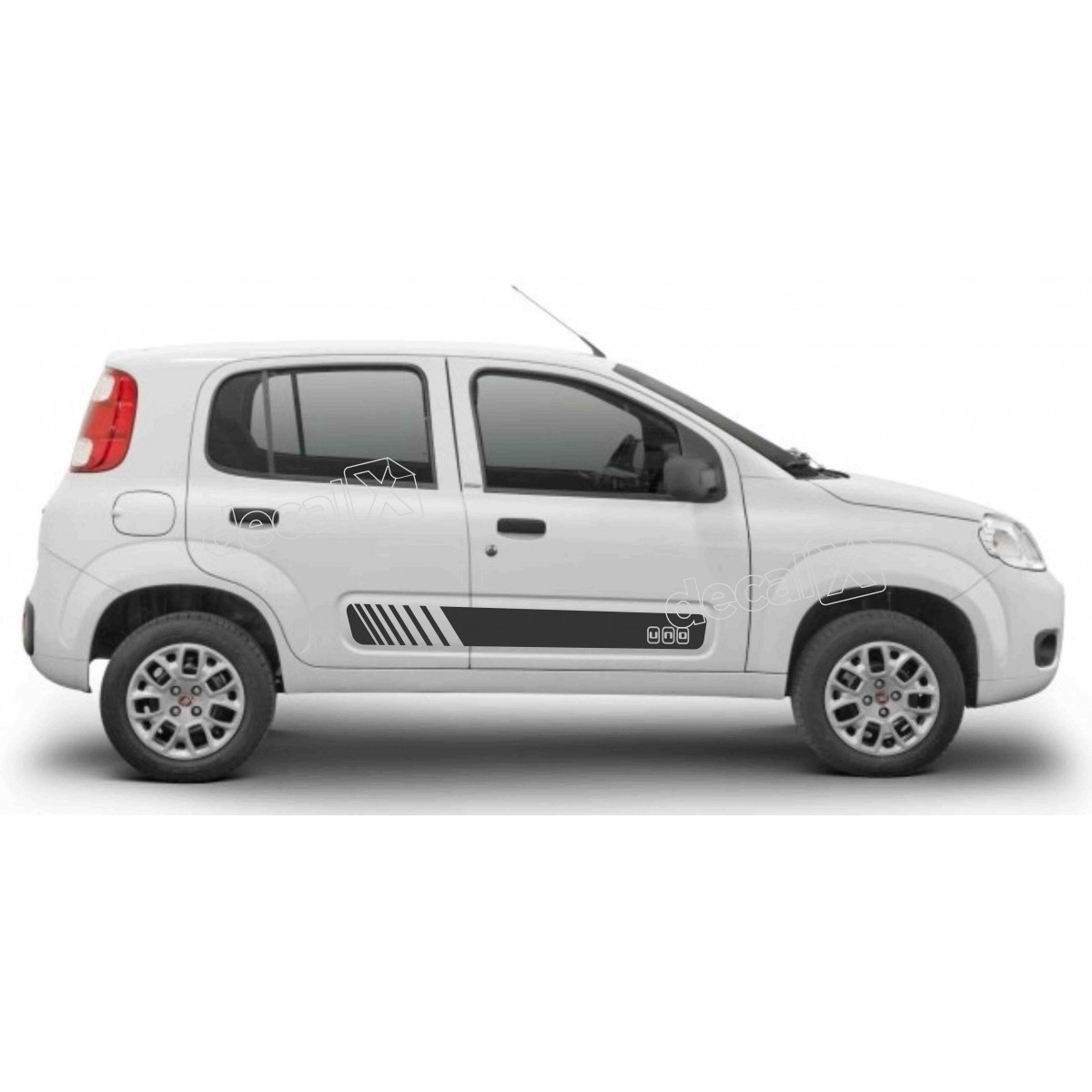 Adesivo Faixa Lateral Fiat Uno Unoc7