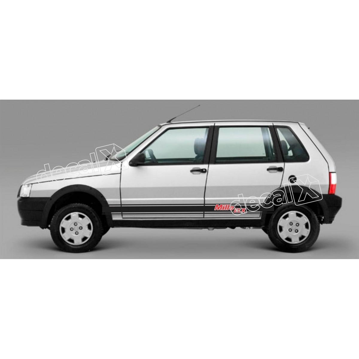 Adesivo Faixa Lateral Fiat Uno Unod4
