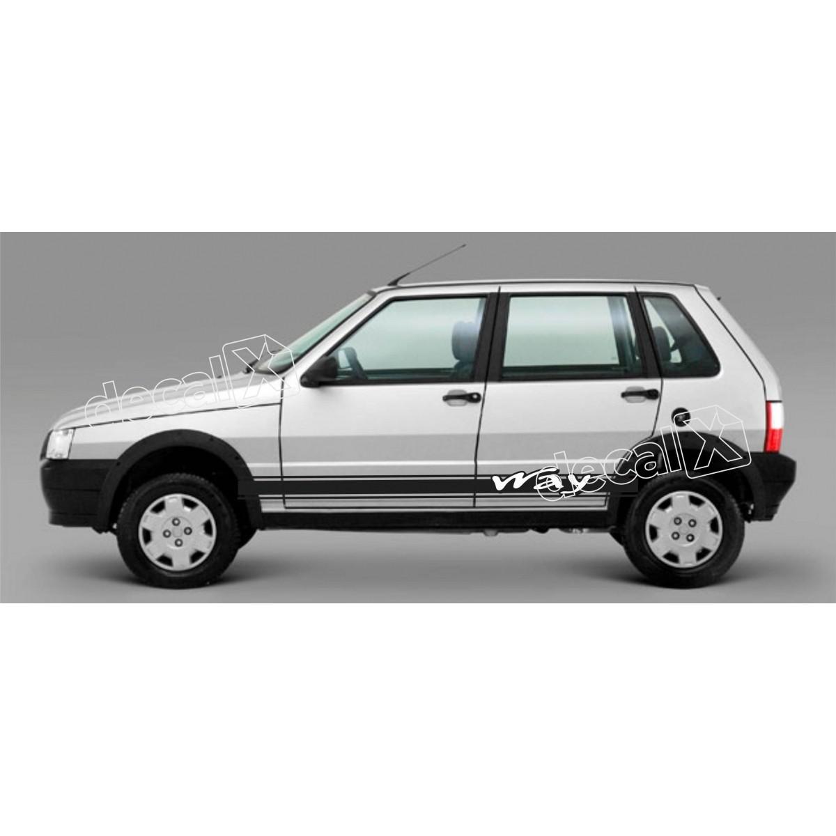 Adesivo Faixa Lateral Fiat Uno Unod6