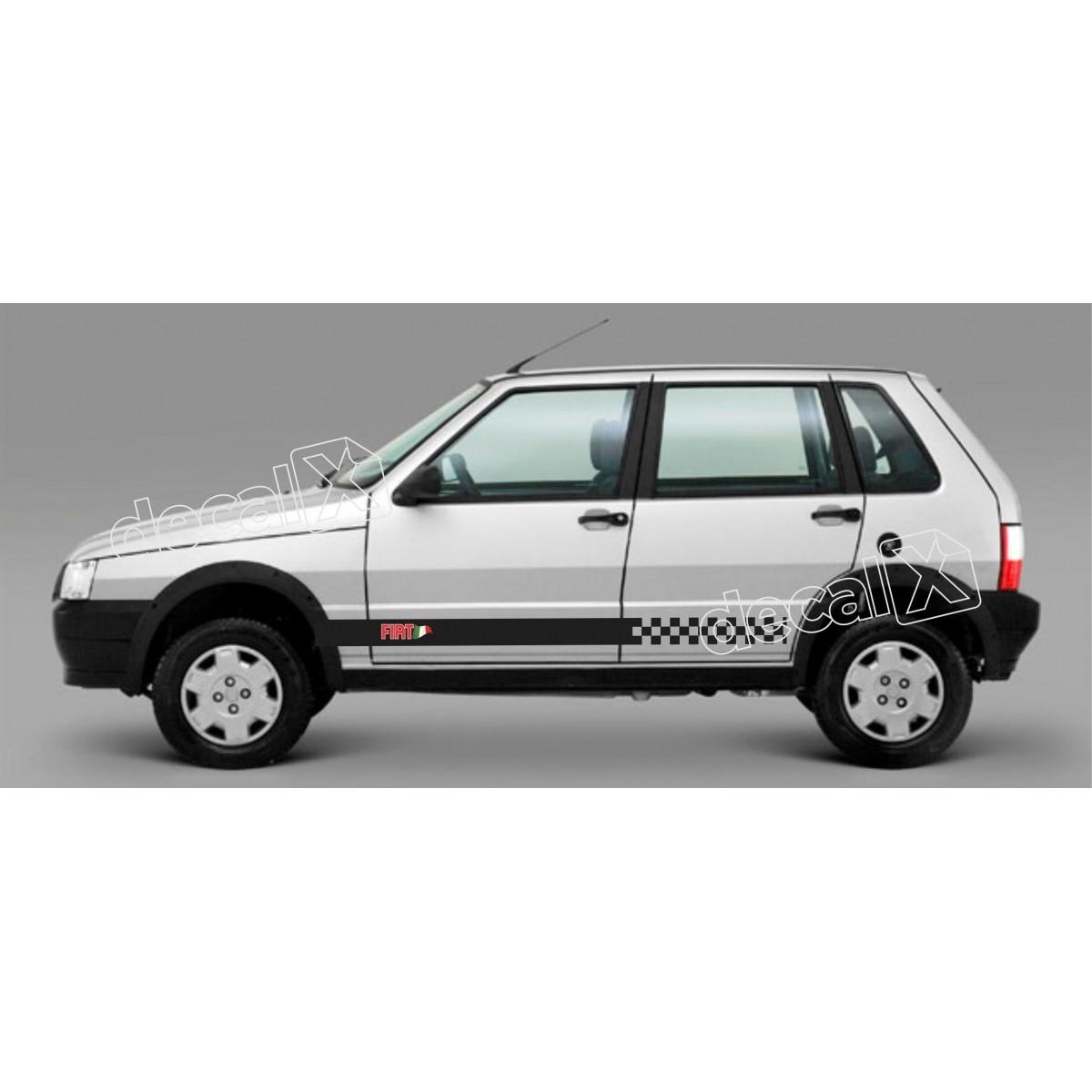 Adesivo Faixa Lateral Fiat Uno Unoe1
