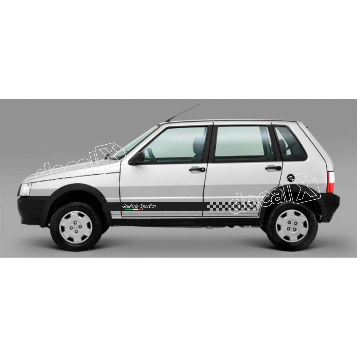 Adesivo Faixa Lateral Fiat Uno Unoe8
