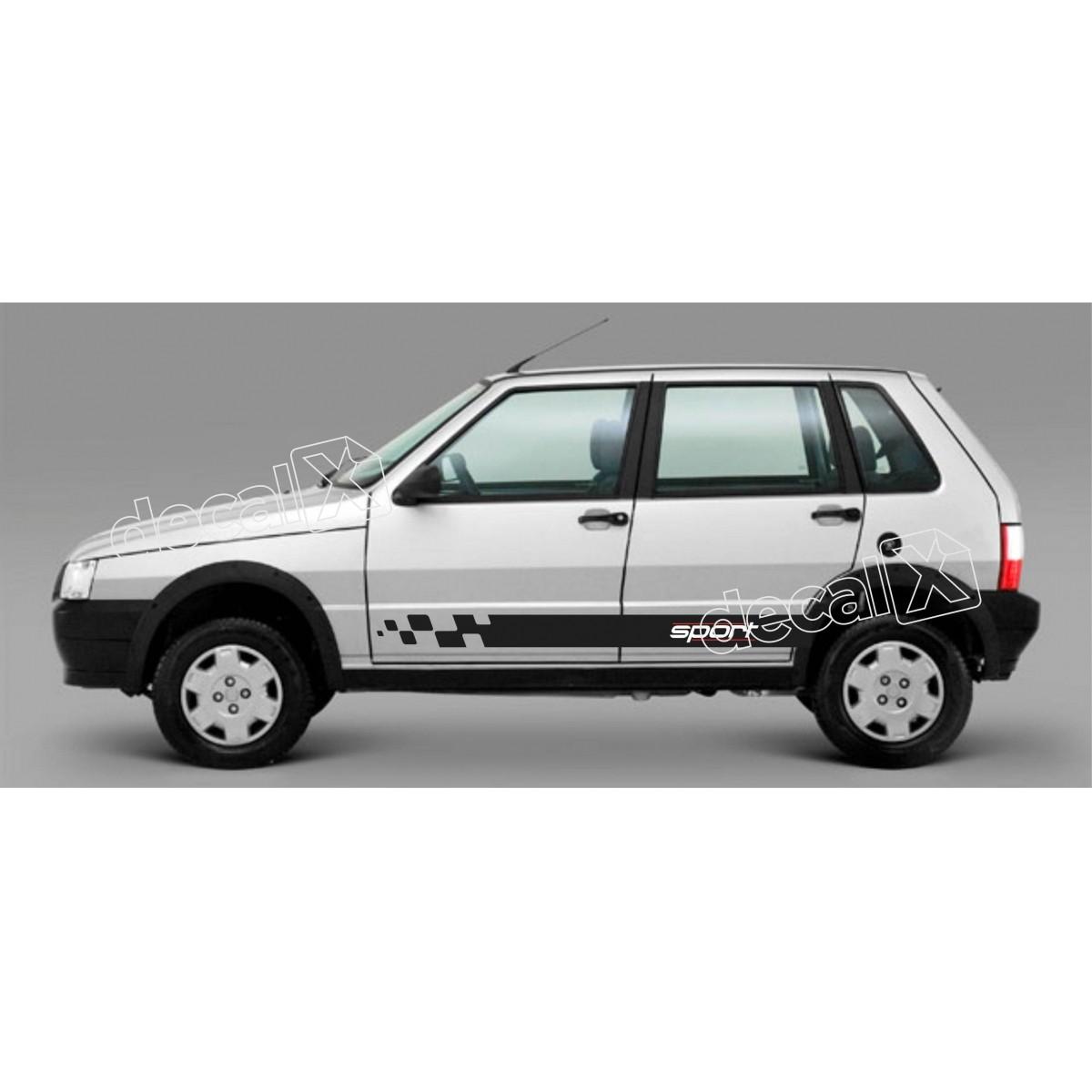 Adesivo Faixa Lateral Fiat Uno Unog10