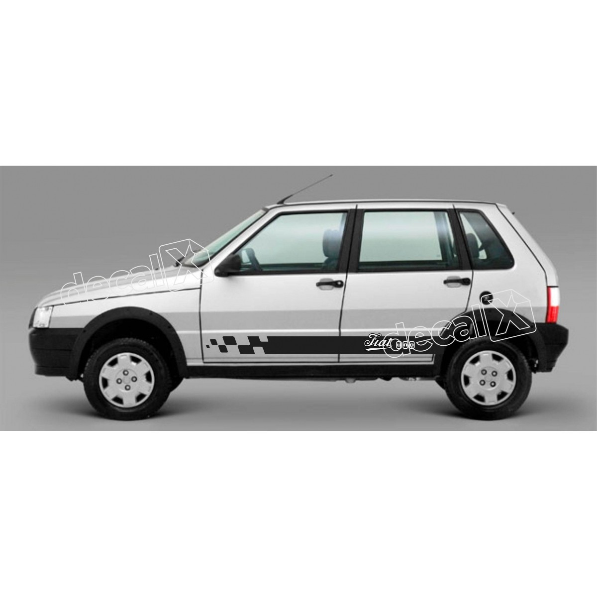 Adesivo Faixa Lateral Fiat Uno Unog5