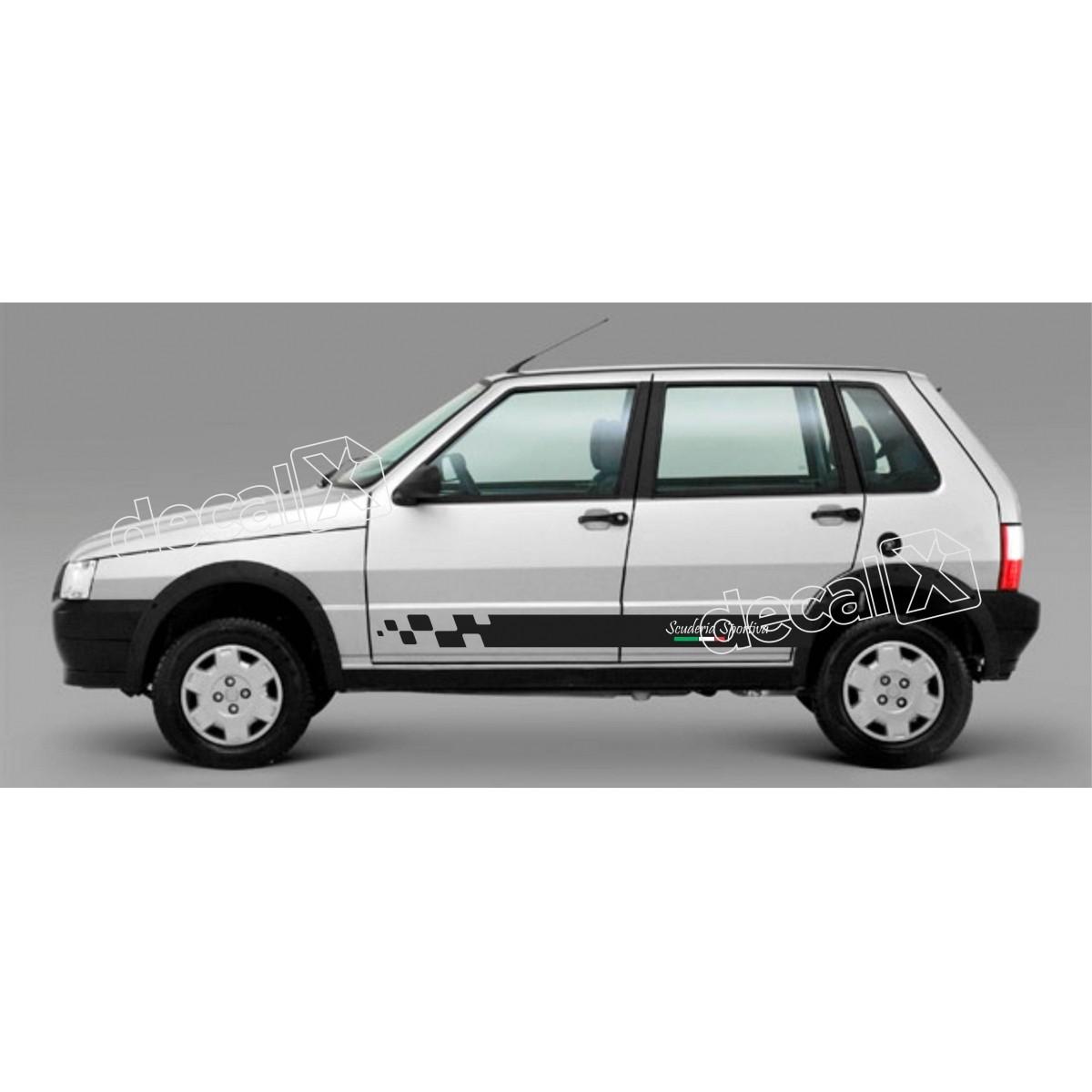 Adesivo Faixa Lateral Fiat Uno Unog8