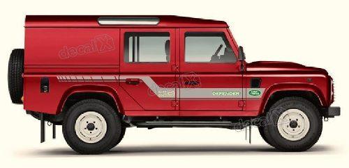 Adesivo Faixa Lateral Land Rover Defender 110 Dfndr29