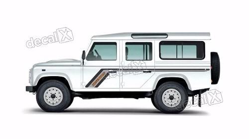 Adesivo Faixa Lateral Land Rover Defender 110 Dfndr37
