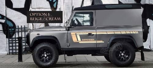 Adesivo Faixa Lateral Land Rover Defender 90 Dfndr49