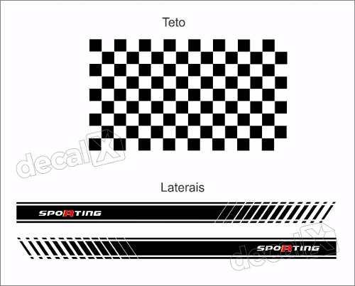 Adesivo Faixa Lateral Teto Fiat Uno Abarth Unoc38