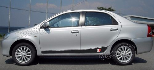 Adesivo Faixa Lateral Toyota Etios Sedan 3m Etios9